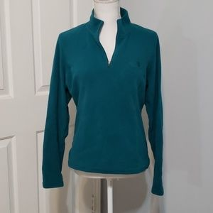 The North Face teal pullover sz M